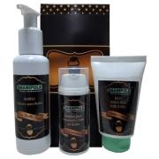Kit Balm Hidratante + Complexo para Crescimento e Falhas da Barba + Shampoo Nutritivo