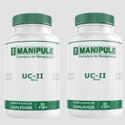 UC-II (Colágeno tipo II) 40mg - 2 Potes - 30 Cápsulas cada