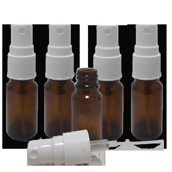 5 Frascos Spray 20ml - Vidro Âmbar com Válvula Branca  - Loja Online   Manipule - Farmácia de Manipulação