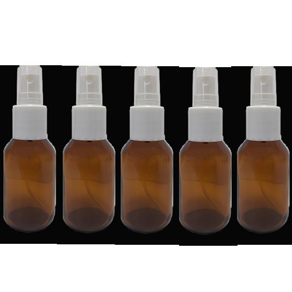 5 Frascos Spray 30ml - Vidro Âmbar com Válvula Branca  - Loja Online   Manipule - Farmácia de Manipulação
