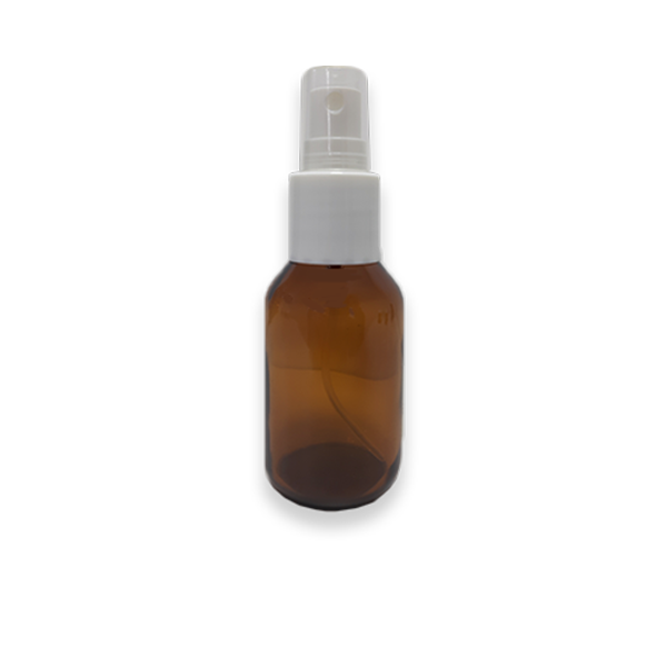 5 Frascos Spray 60ml - Vidro Âmbar com Válvula Branca  - Loja Online   Manipule - Farmácia de Manipulação