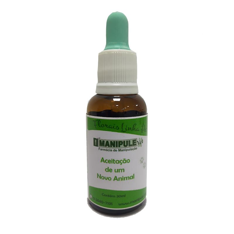 Aceitação de um novo animal 30ml - Florais Veterinários  - Manipule - Farmácia de Manipulação