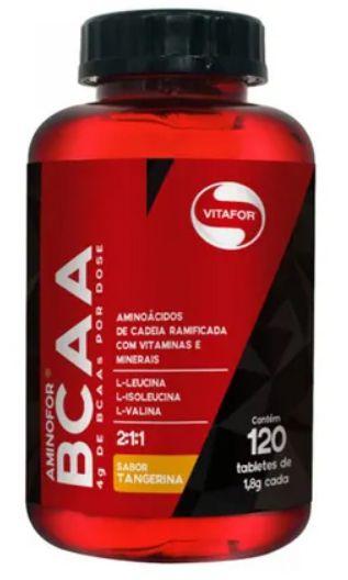 Aminofor BCAA - sabor tangerina - 60 tabletes  - Manipule - Farmácia de Manipulação