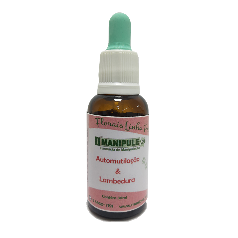 Automutilação e Lambedura 30ml - Florais Veterinários  - Loja Online | Manipule - Farmácia de Manipulação