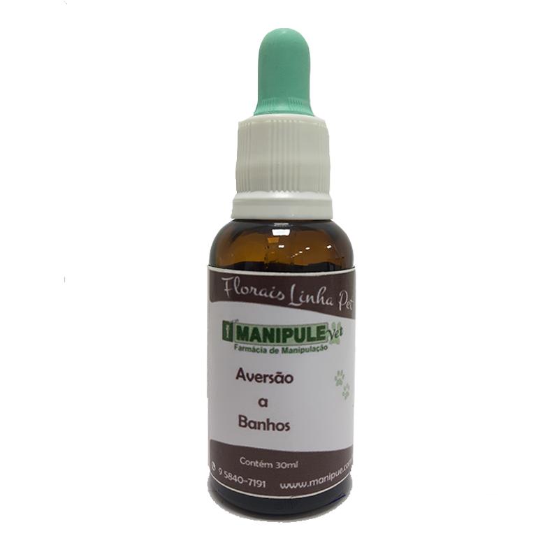 Aversão a Banhos 30ml - Florais Veterinários  - Manipule - Farmácia de Manipulação