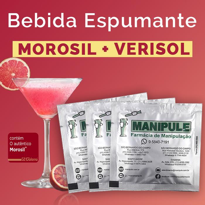 Bebida Espumante com Morosil + Verisol  - Loja Online   Manipule - Farmácia de Manipulação