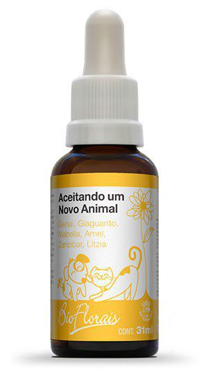 Bio Florais Vet. Aceitando Um Novo Animal - 31 ml  - Manipule - Farmácia de Manipulação