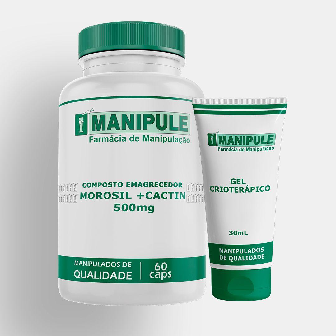 Composto Emagrecedor com Morosil + Cactin - 60 cápsulas - ganhe 1 Gel Crioterápico 30g  - Manipule - Farmácia de Manipulação