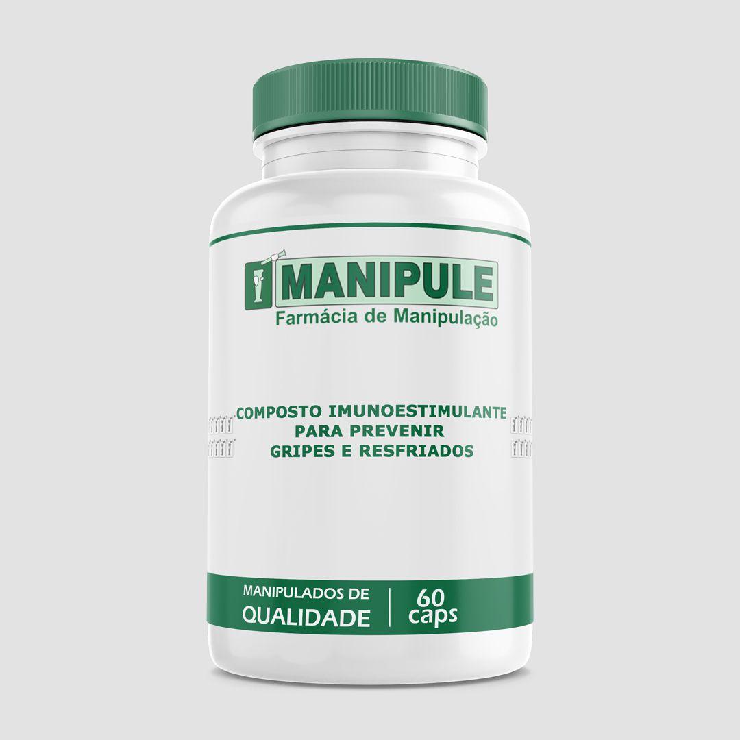 Composto Imunoestimulante para prevenir gripes e resfriados - 60 cápsulas  - Manipule - Farmácia de Manipulação