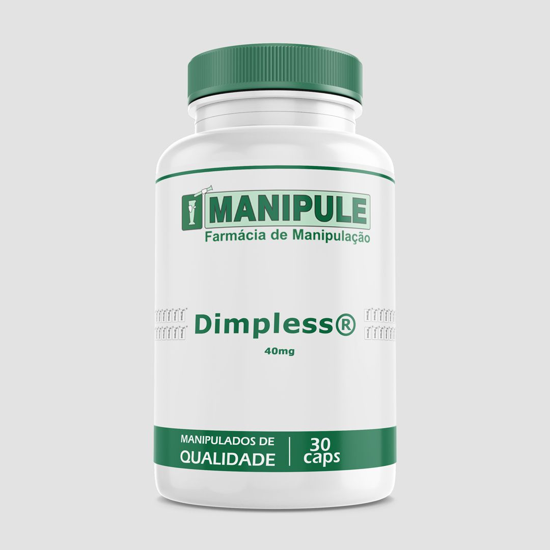 Dimpless® 40mg - 30 cápsulas - ganhe 1 Gel Crioterápico 30g  - Loja Online | Manipule - Farmácia de Manipulação