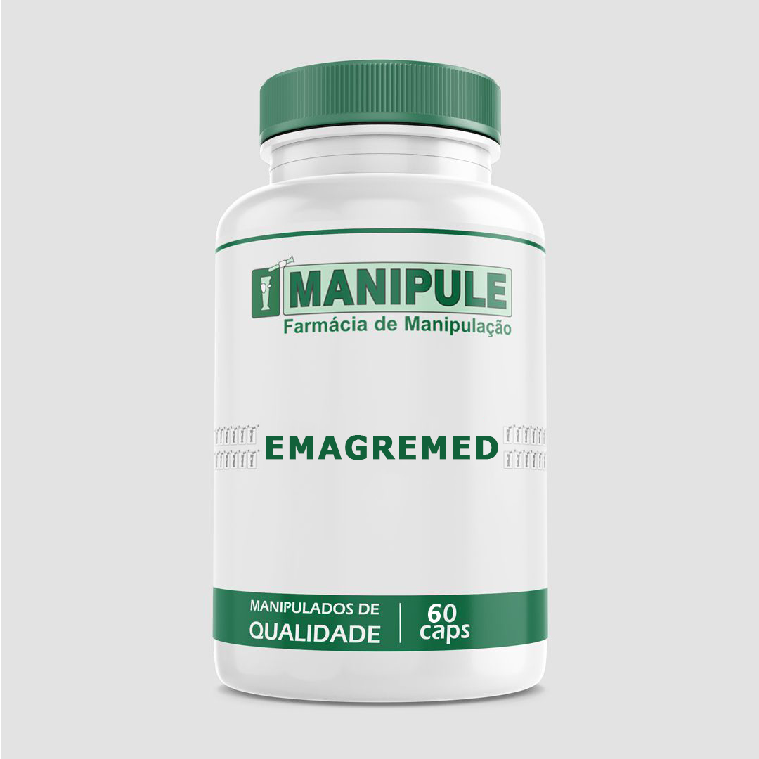 Emagremed 60 caps - Composto Emagrecedor Redutor de Medidas  - Loja Online | Manipule - Farmácia de Manipulação