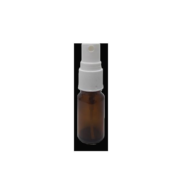 Frasco Spray 10ml - Vidro Âmbar com Válvula Branca  - Loja Online | Manipule - Farmácia de Manipulação