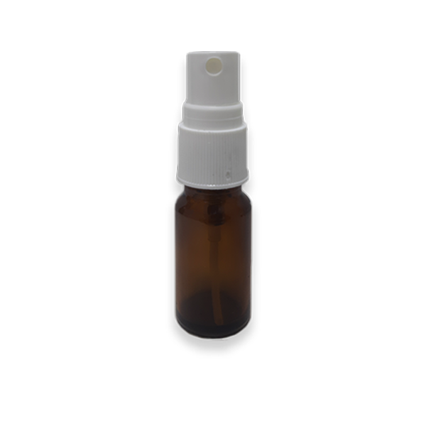 Frasco Spray 20ml - Vidro Âmbar com Válvula Branca  - Loja Online   Manipule - Farmácia de Manipulação
