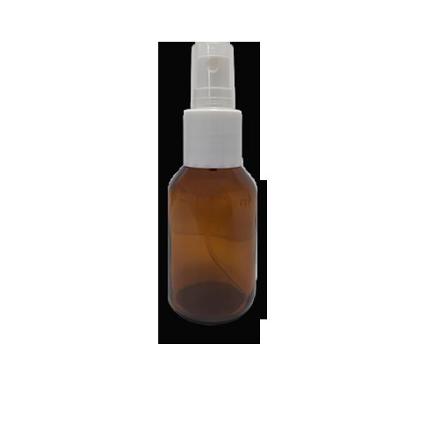 Frasco Spray 60ml - Vidro Âmbar com Válvula Branca  - Loja Online   Manipule - Farmácia de Manipulação