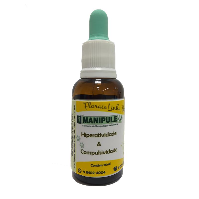 Hiperatividade e Compulsividade 30ml - Florais Veterinários  - Manipule - Farmácia de Manipulação