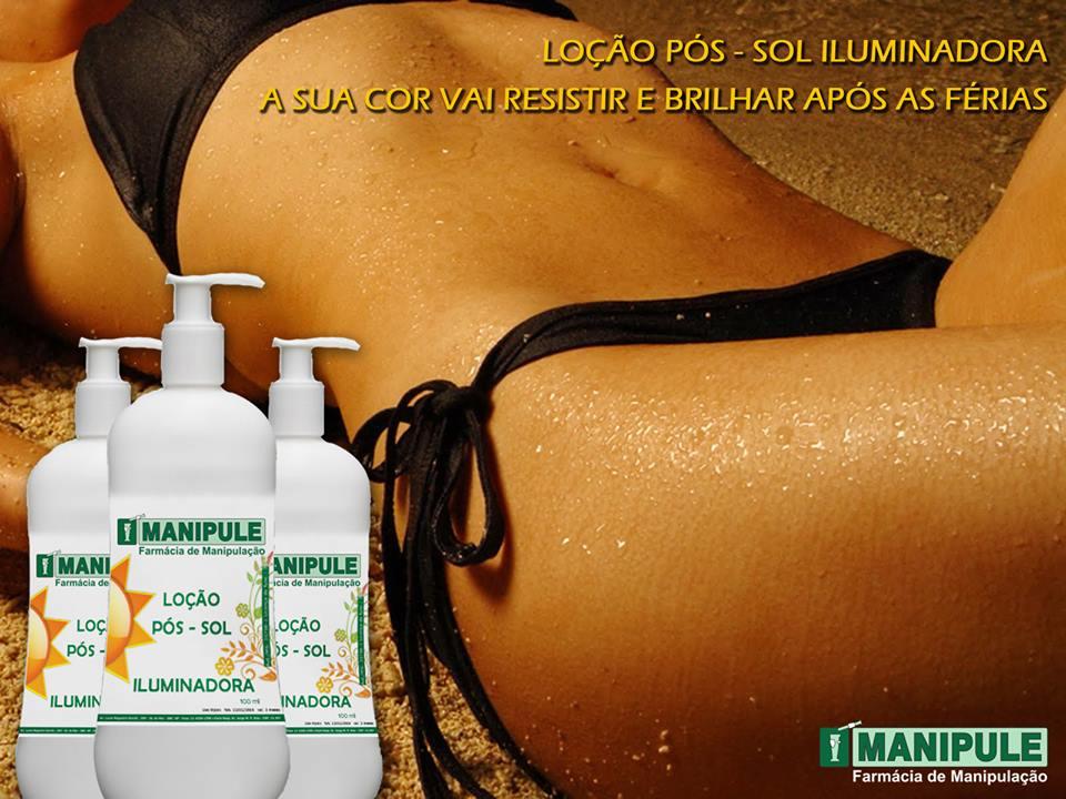 LOÇÃO PÓS - SOL ILUMINADORA - 100g  - Manipule - Farmácia de Manipulação