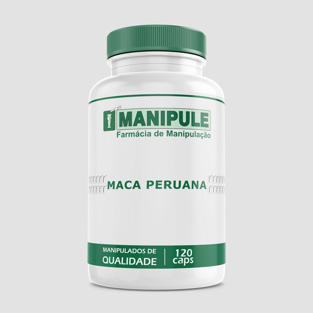 Maca Peruana 500mg - 120 cápsulas  - Manipule - Farmácia de Manipulação