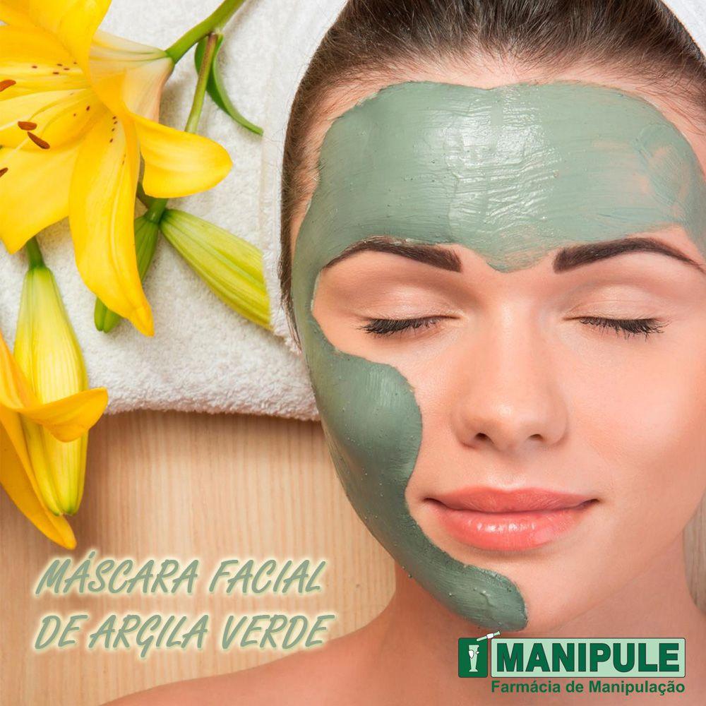 Máscara Facial De Argila Verde 5G  - Loja Online | Manipule - Farmácia de Manipulação