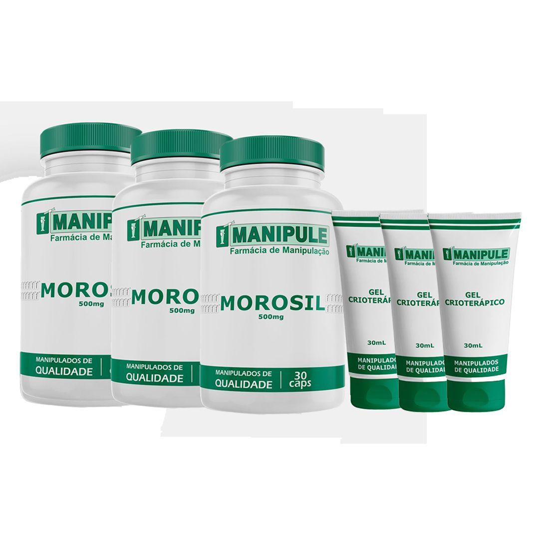 Morosil (Galena) 500mg - 3 potes com 30 Cápsulas cada ganhe 3 Géis Crioterápicos  30g  - Loja Online | Manipule - Farmácia de Manipulação
