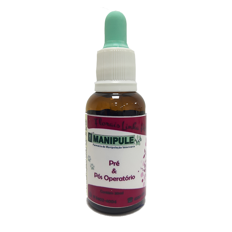 Pré e Pós-Operatório - Florais Veterinários  - Manipule - Farmácia de Manipulação