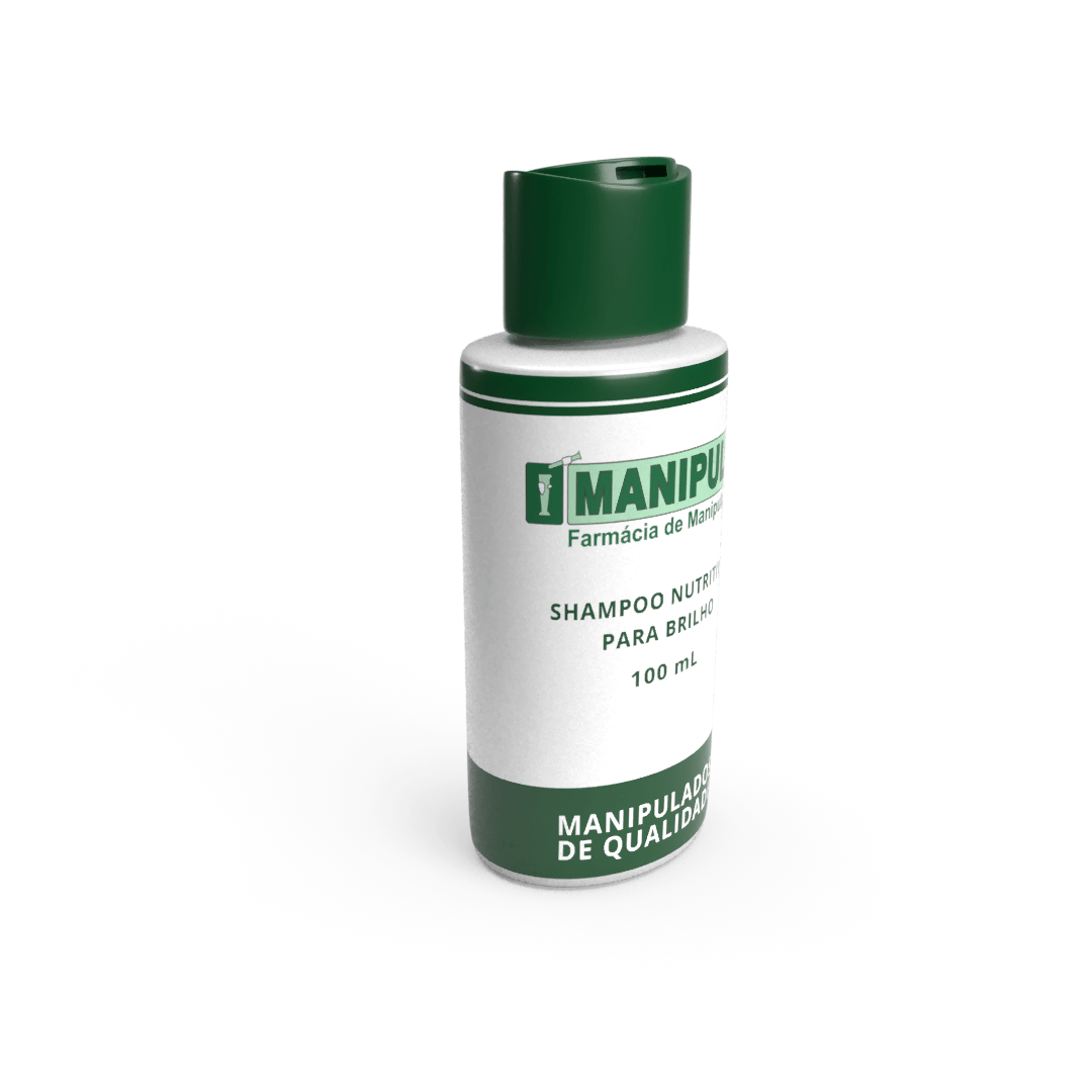 Shampoo Nutritivo para Brilho 100mL  - Manipule - Farmácia de Manipulação