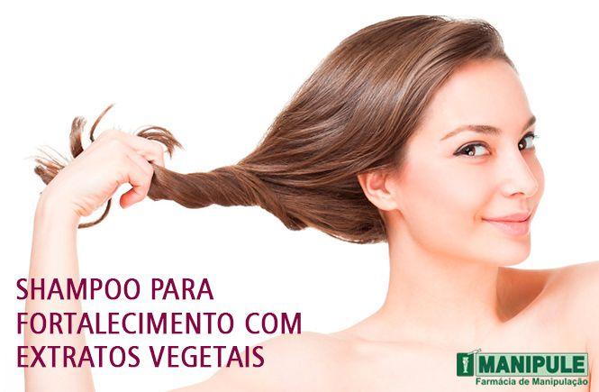 Shampoo Para Fortalecimento Com Extratos Vegetais 100ml  - Manipule - Farmácia de Manipulação
