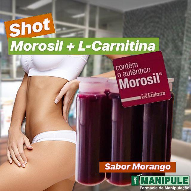 SHOT MOROSIL + L-CARNITINA (30 SHOTS) - ganhe 1 Gel Crioterápico 30g  - Manipule - Farmácia de Manipulação