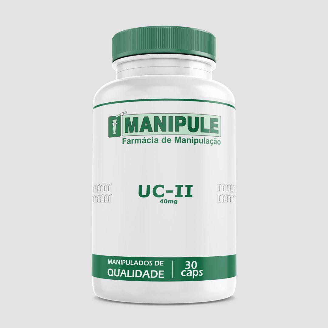 UC-II (Colágeno tipo II) 40mg - 30 Cápsulas  - Loja Online | Manipule - Farmácia de Manipulação