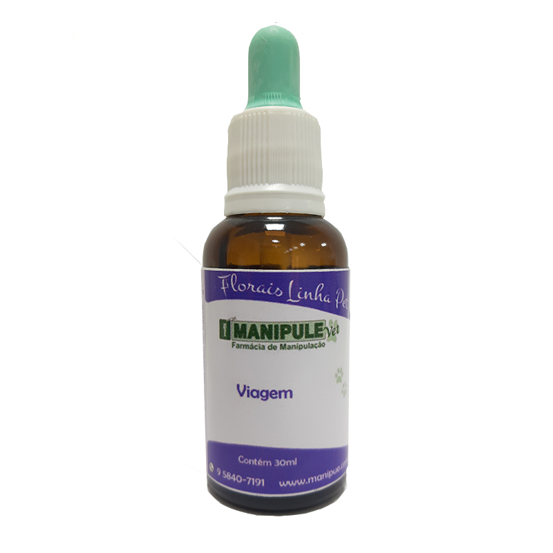 Viagem 30ml - Florais Veterinários  - Manipule - Farmácia de Manipulação