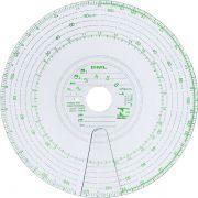 Disco Tacógrafo Semanal 125km 07cartas (cx.10 Conj.) - Dml001