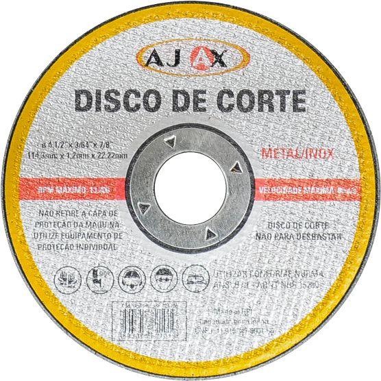 Disco Corte Metal/inox 2t 4.1/2x3/64x7/8 Ajax - 99br.023.100
