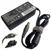 Fonte Carregador Notebook Lenovo 20v 3.25a 65w Plug Cinza