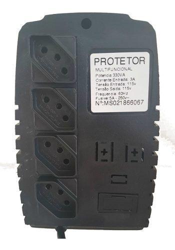 Protetor Eletrônico Para Pc 330va 110/110v Energy Lux 4 Pçs