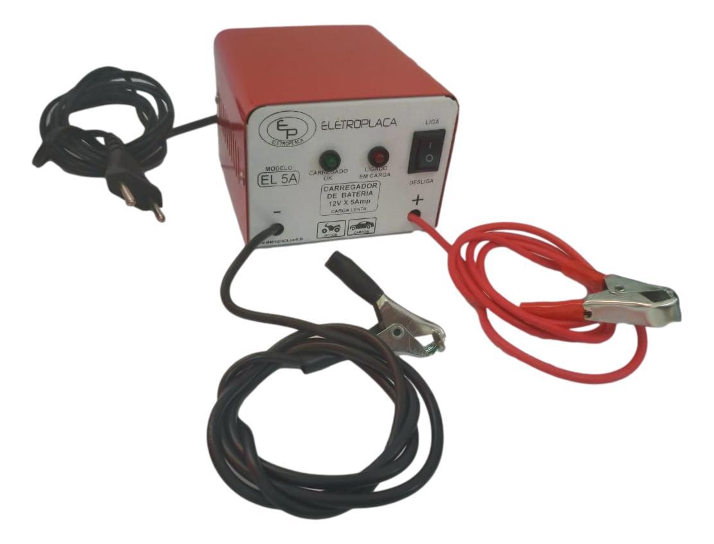 Carregador De Bateria Automotiva Universal Bivolt 12v 5a 60w
