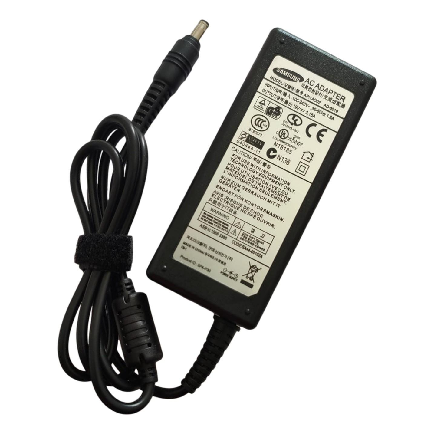 Fonte Carregador Notebook Samsung 19v 3.16a 60w