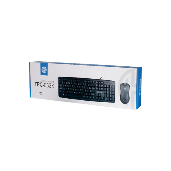Kit Teclado + Mouse Hoopson Tpc-052k Com Fio Usb