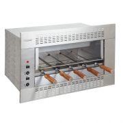 Churrasqueira Elétrica - 1 Galeria - 5 Espetos - Embutir - Linha Gourmet - 220V - Inox 304
