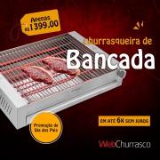 Churrasqueira Elétrica de Bancada Basic - 3000W - 220V