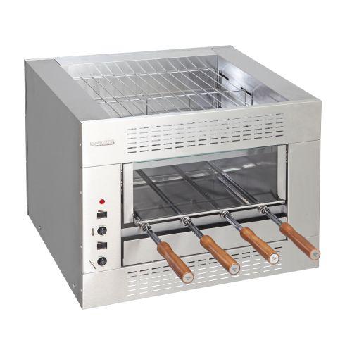 Churrasqueira Elétrica - 1 Galeria - 5 Espetos - Balcão - Linha Gourmet - 220V - Inox 304