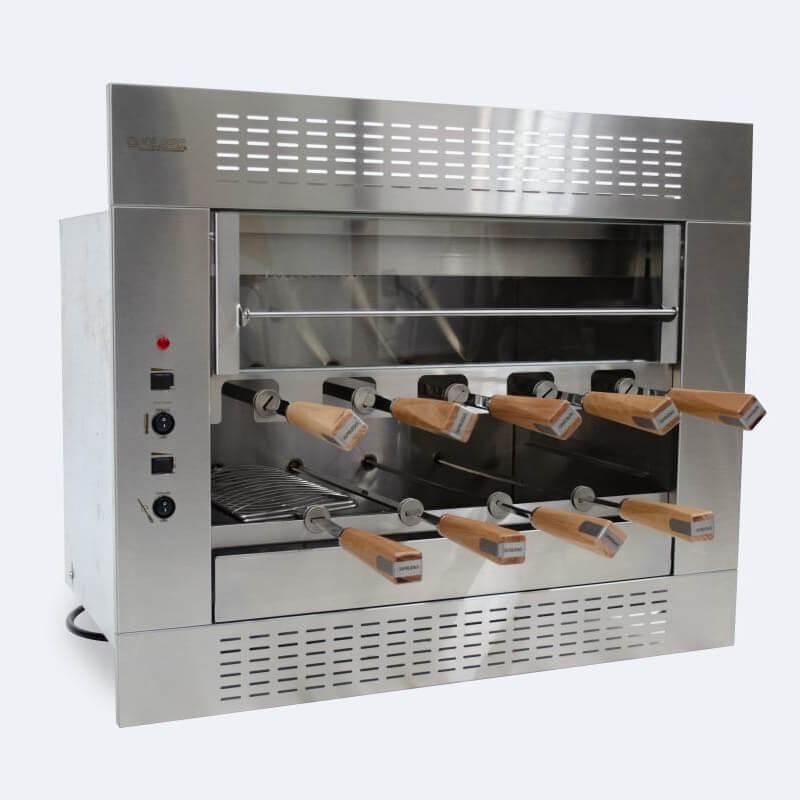 Churrasqueira Elétrica - 2 Galerias - 9 Espetos - Embutir - Linha Gourmet - 220V