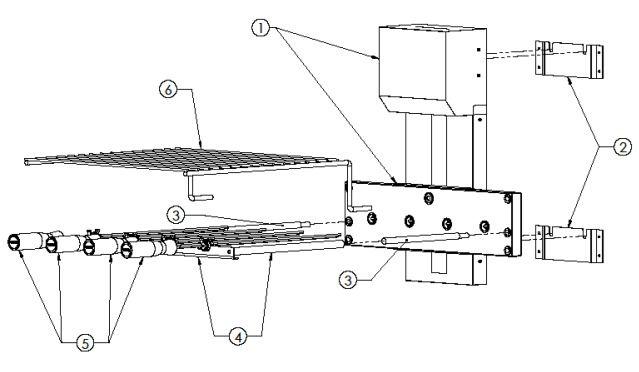 VERSA GRILL 4 ESPETOS ROTATIVO | 500 mm - 110-220V