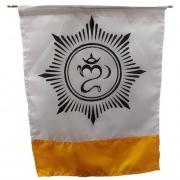 Bandeira Budista Flâmula Símbolo Om (41cm)