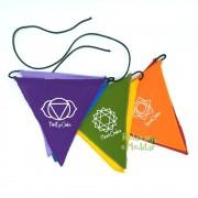Bandeirinhas Flâmula dos Sete Chakras (Pequena)