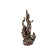 Escultura Kuan Yin com Dragão (35cm)