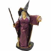 Estátua Bruxa com Incensário e Cristal com Luz (40cm)
