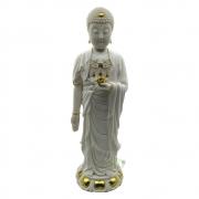 Estátua Buda Pérolado Grande em Resina (40cm)