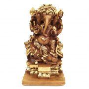 Estátua Ganesha Sabedoria e Fortuna (14cm)