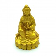 Estátua Kuan Yin Dourada (8cm)