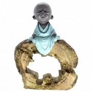 Estátua Monge da Harmonia no Tronco (24cm)