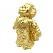 Estátua Monge da Liberdade Dourado (17cm)